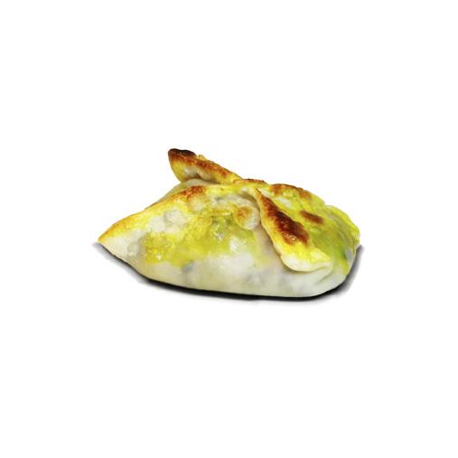 empanada de cebolla, champiñones y queso de cabra